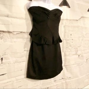 Black Strapeless Dress